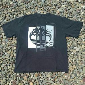 Vintage Timberland Mosaic Logo T-Shirt - Size: L